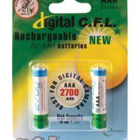 بسته دو عددی باتری قابل شارژ Digital C.F.L 2700mAh