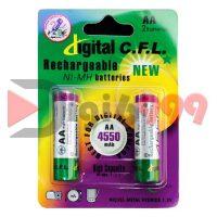 بسته دو عددی باتری قلمی قابل شارژ Digital C.F.L 4550 mAh
