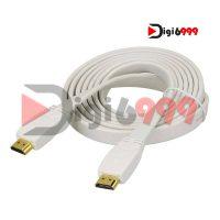 کابل HDMI تخت فرانت با کانکتور طلایی 3D طول 3 متر